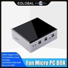 Intel i7 10510U i5 8250U Quad Core Mini PC 2 * DDR4 2 * Lans M.2 NVMe NUC ganar 10 WiFi HDMI Slim computadora UHD gráficos 620 caja de TV