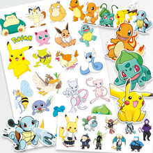 Pokemon Original Tattoo Stickers Waterproof Cute Pikachu Sticker Funny Cartoon Kids Girls Christmas Birthday Gift reward Toy