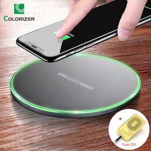 Image 1 - Qi 10W Fast Wireless Charger Pad For iPhone XR XS Max 11 Pro Wireless Charging Receiver For Xiaomi Type C Micro USB Mobile Phone