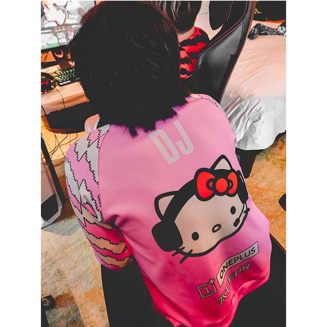 Cute Uniform Hello Fnaticy Kitty Jerseys Customized Name Hoodies Men Long Sleeve Streetwear Sweat Hoodie Sweatshirt Top quality