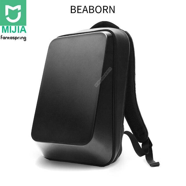 حقيبة ظهر شاومي فانتازبرينج بيبورن 18L هارد شل 15.6 بوصة حقيبة كمبيوتر محمول 180 درجة فتح إغلاق الكتف حقيبة الظهر للسفر في الهواء الطلق