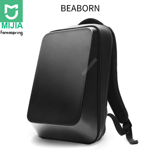 Xiaomi Fantaspring BEABORN 18L Hard Shell Backpack 15.6inch Laptop Bag 180° Opening Closing Shoulder Rucksack for Outdoor Travel