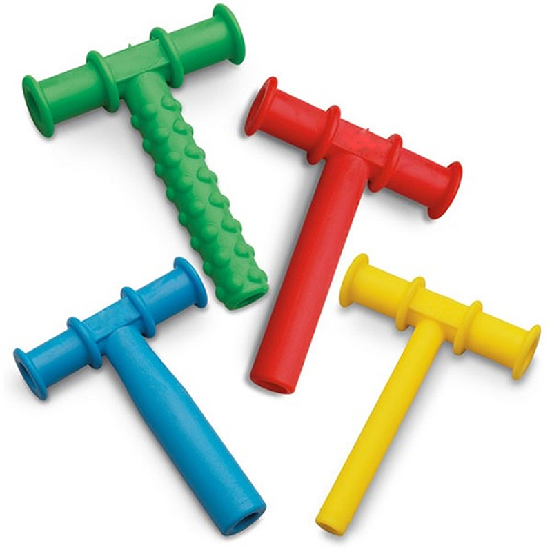 4PCS Chewing Tube Chewy Teether Baby Oral Motor Chew Tools Tuxtured Autism Sensory Therapy Toys Speech Therapy Tool