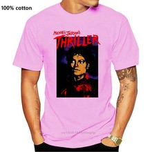 Michael Jackson T Shirt - Thriller Close-Up 100% Official Old Skool Hooligans Printed Men T-Shirt Short Sleeve Funny Tee Shirts