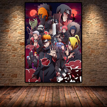 Nowoczesny plakat artystyczny Anime Naruto obraz na płótnie i druk ścienny plakat z nadrukiem ściennym dekoracja ścienna do salonu