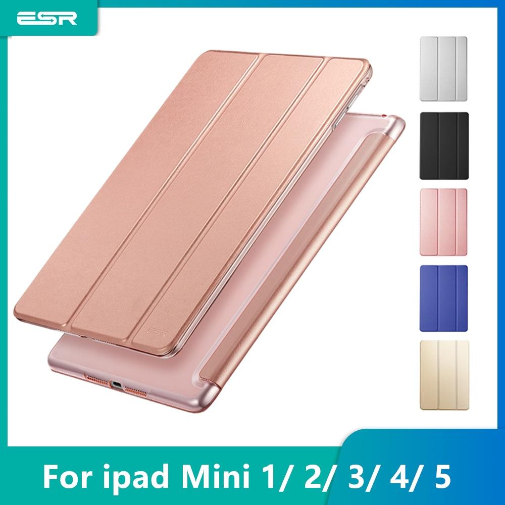 ESR PU Leather Case For IPad Mini 5 4 3 2 1 Folio Soft Back Trifold Stand Auto Sleep Wake Up Smart Cover For IPad Mini 5 2019