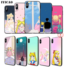 IYICAO Sailor Moon Soft Phone Case for iPhone 11 Pro XR X XS Max 6 6S 7 8 Plus 5 5S SE Silicone TPU 7 Plus