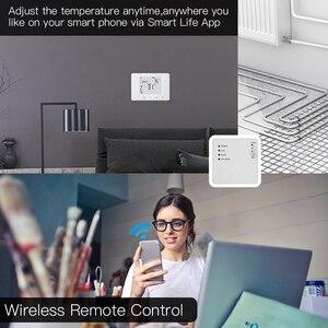 Image 3 - WiFi inteligentny termostat ścienny wody podłogowe temperatura podgrzewania kontroler współpracuje z Alexa Google domu