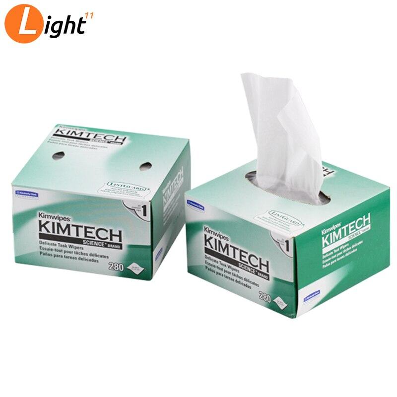 Kimwipes Brand Fiber Cleaning Paper 210 X 110mm Optical Fiber Cleaning Paper 280pcs/Box  For Optical Components