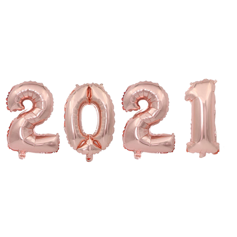2021 набор фольгированных шаров с цифрами гелиевые шары новогодние
