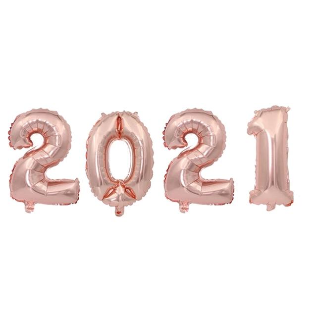Фото 2021 набор фольгированных шаров с цифрами гелиевые шары новогодние