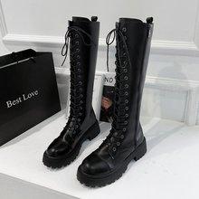 Botas De Mujer Goth Thigh High Boots Women Shoes Bottes Scarpe Da Donna Buty Schoenen Vrouw Frauen Stiefel Fashion Botki Damskie