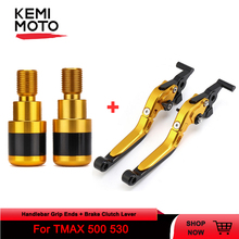 Motorcycle Accessories For Yamaha Tmax 500 530 CNC Aluminum Handlebar Grip Ends Protector and Brake Clutch Levers