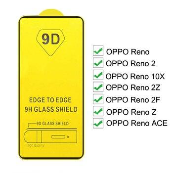 Перейти на Алиэкспресс и купить 9D полное покрытие закаленное стекло для OPPO Reno2 Z F 10X ACE Защита экрана для OPPO Reno 2Z 2F ACE 10X Zoom защитная пленка черного цвета