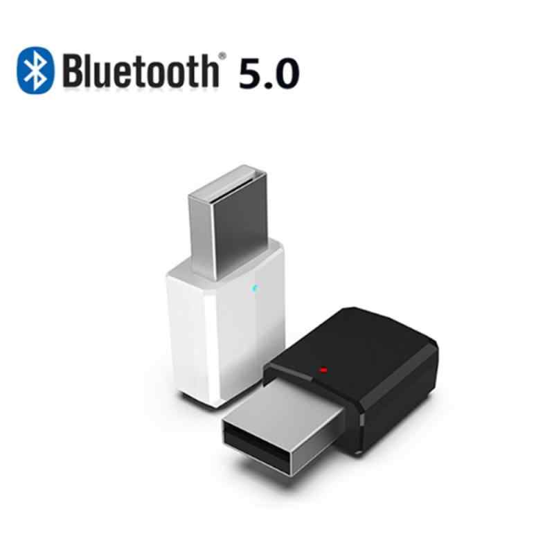 2019 Baru 2in1 Bluetooth 5.0 Receiver Transmitter 3.5 Mm Aux USB Wireless Stereo Audio Adapter untuk Home TV MP3 PC aksesoris Mobil