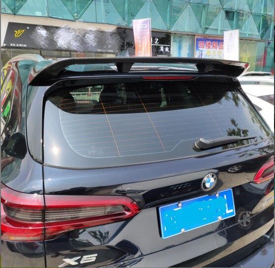 Pour BMW X5 spoiler G05 SUV spoiler 2018 2019 aile arrière spoiler pâte Installation en fibre de carbone matériel arrière toit coffre Spoiler