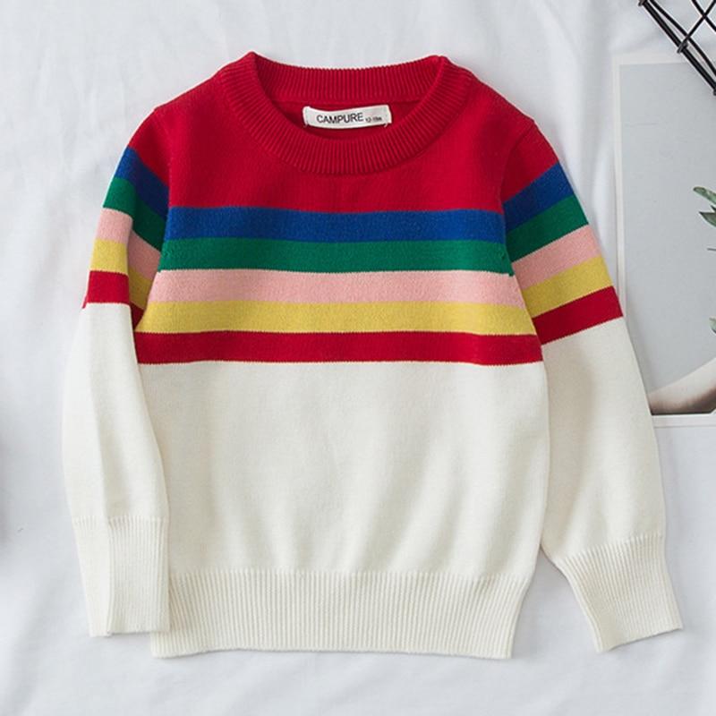 1-6Yrs New 2020 Boy Girl Long Sleeve Loving Heart Knitted Sweater Autumn Winter Boys Girls Sweaters For Baby Girls Kids Sweater 10