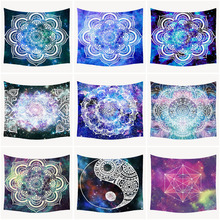 Psychedelic India Mandala Tapestry Printed Carpet Macrame Wall Cloth TapestriesHippie Elephant Tapestry Mandala Wall Hanging