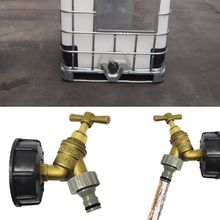 цена на IBC Tank Adapter  IBC Tote Tank Drain Adapter S60X6 to Brass Garden Tap with 1/2