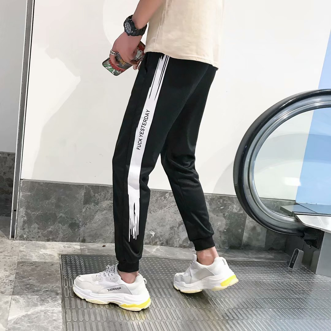 Men Capri Pants Casual Pants Korean-style Trend Versatile Summer Men's Trousers Slim Fit Pants Thin Students Skinny Pants