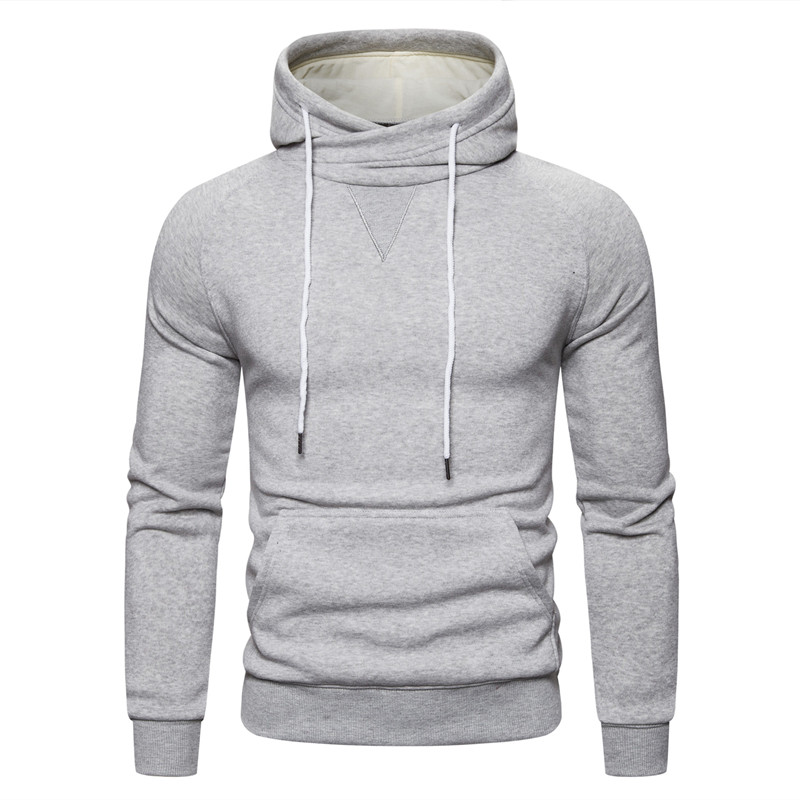 2019 New Autumn Winter Cotton Hoodied Mens Sweatshirts Solid Hoody Fleece Thick Hoodies Men Sportswear Zipper Sweatshirts Men 22