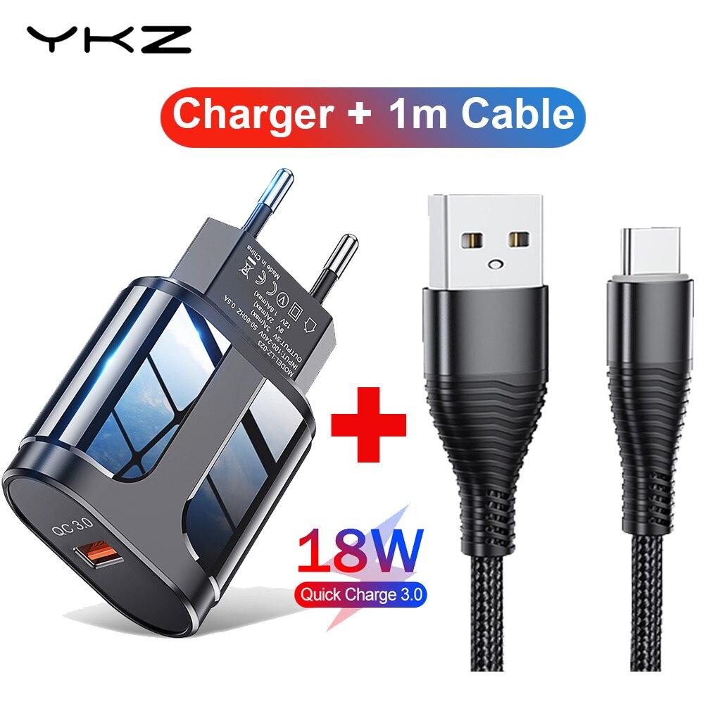 USB зарядное устройство 3A быстрой зарядки 18 Вт мобильный телефон зарядное устройство по стандартам ЕС/США Plug дорожное настенное зарядное уст...