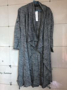 Image 5 - Lente Zomer Koreaanse Stijlvolle Grijs Zwart Extra Lange Pop Punk Vest Linnen Shirts Voor Mannen