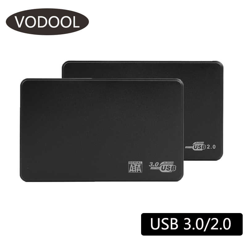 2.5 Cm HDD SSD Case SATA Ke USB 3.0 2.0 Adaptor Gratis 5 Gbps Kotak Hard Drive Enclosure Dukungan 6TB HDD Disk untuk Windows Mac OS