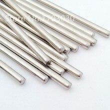 Eixo de haste de aço inoxidável rc, comprimento do eixo linear, 100mm * diameter2mm/2.5mm/3mm 10 peças de 4mm/5mm