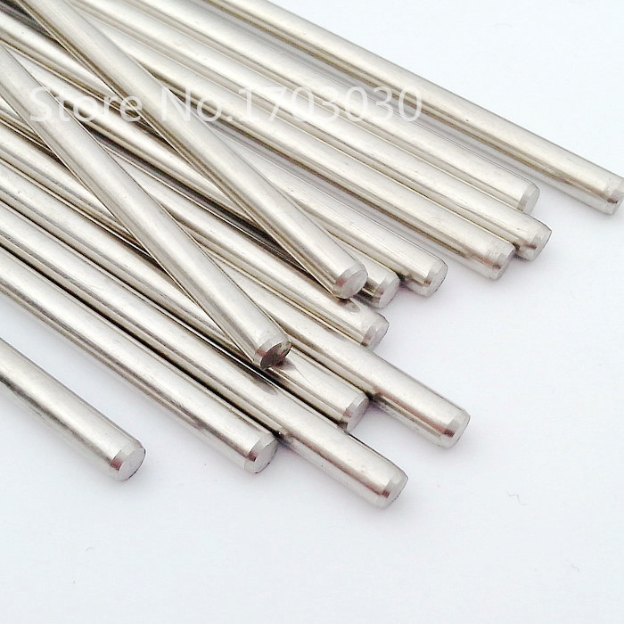 RC Stainless Steel <font><b>Rod</b></font> <font><b>shaft</b></font> Linear Rail Round <font><b>Shaft</b></font> Length 100mm * Diameter2mm/2.<font><b>5mm</b></font>/3mm/4mm/<font><b>5mm</b></font> 10pcs image