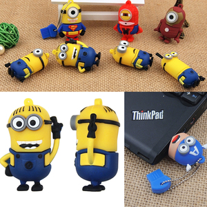 Image 5 - Twórczy miniony Pendrive śliczne pamięć USB 2.0 64GB 32GB 128MB szybki zewnętrzny dysk pamięci Pendrive dla dzieci dobry prezent