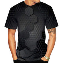 2021 Summer Popular 3D Geometric Shape T-Shirt Creative Character Men's Sports Casual Shirt Funny Plus Size Short-Sleeved T-Shir