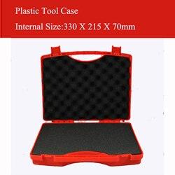 330X215X70 مللي متر حقيبة أدوات بلاستيكية حقيبة الأدوات تأثير مقاومة السلامة معدات صندوق الأدوات المعدات مع رغوة قبل قطع