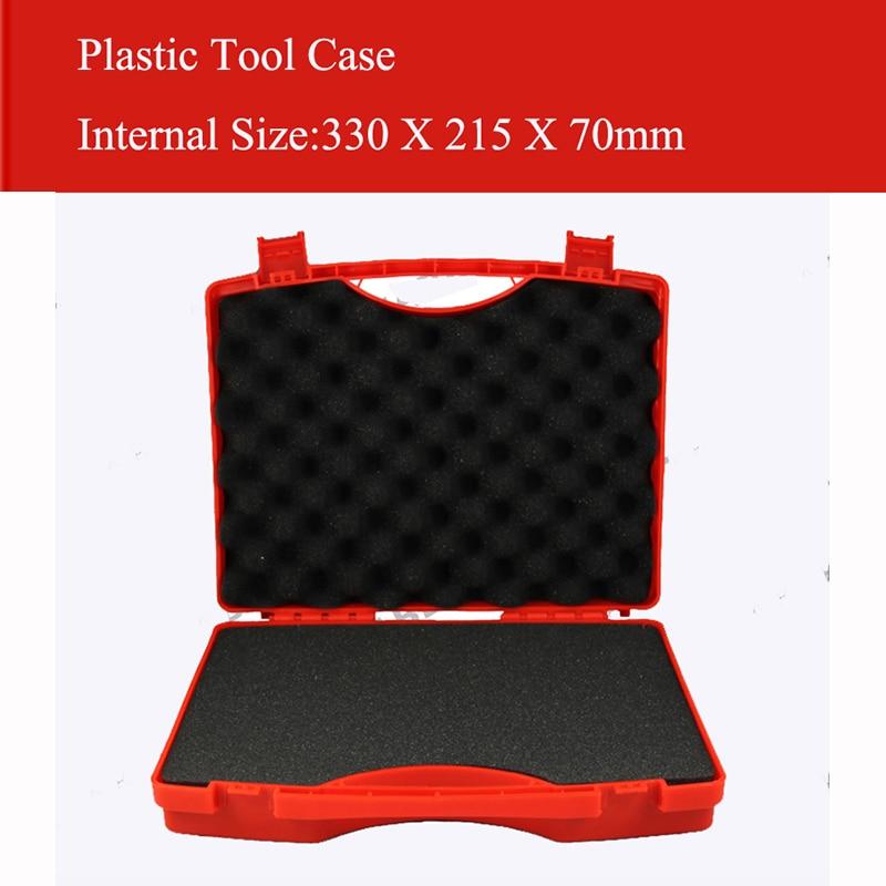 330X215X70MM Plastic gereedschapskoffer koffer gereedschapskist Slagvaste veiligheidskoffer apparatuur Instrumentendoos uitgerust met voorgesneden schuim