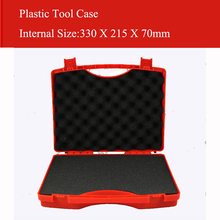 330X215X70MM Plastic Tool case suitcase toolbox Impact resistant safety case equipment Instrument box equipme with pre-cut foam  стоимость