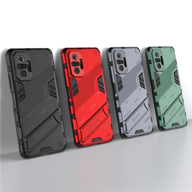 עבור Xiaomi Redmi הערה 10 פרו מקרה כיסוי עבור Xiaomi Redmi הערה 10 פרו מגן כיסוי פאנק שריון מעטפת Kickstand טלפון מקרה קאפה