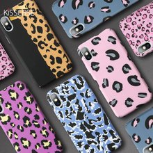 KISSCASE Leopard PC Case For Samsung Galaxy A50 A30 A70 A7 2018 A6 A8 J4 J6 J8 2018 Luminous Phone Case S9 S8 Plus S7 Edge Cover(China)