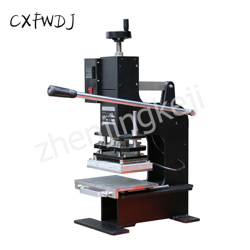 ZY-180 leather Manual Embossing Machine Branding Bump Effect Hot Stamping