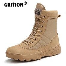 GRITION мужские горные треккинговые ботинки песочные уличные столкновения Нескользящие походные ботинки на шнуровке военные зимние 2020
