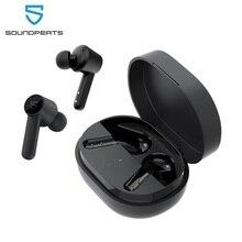 SOUNDPEATS Q سماعات الأذن اللاسلكية بلوتوث 5.0 في الأذن اللاسلكية شحن سماعات مع 4 Mic 10 مللي متر سائق التحكم باللمس USB C