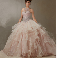 Custom made Girl Quinceanera Dress Vestidos de 15 anos Lace Appliques Tulle Ball Gowns Formal Party Dress 2019