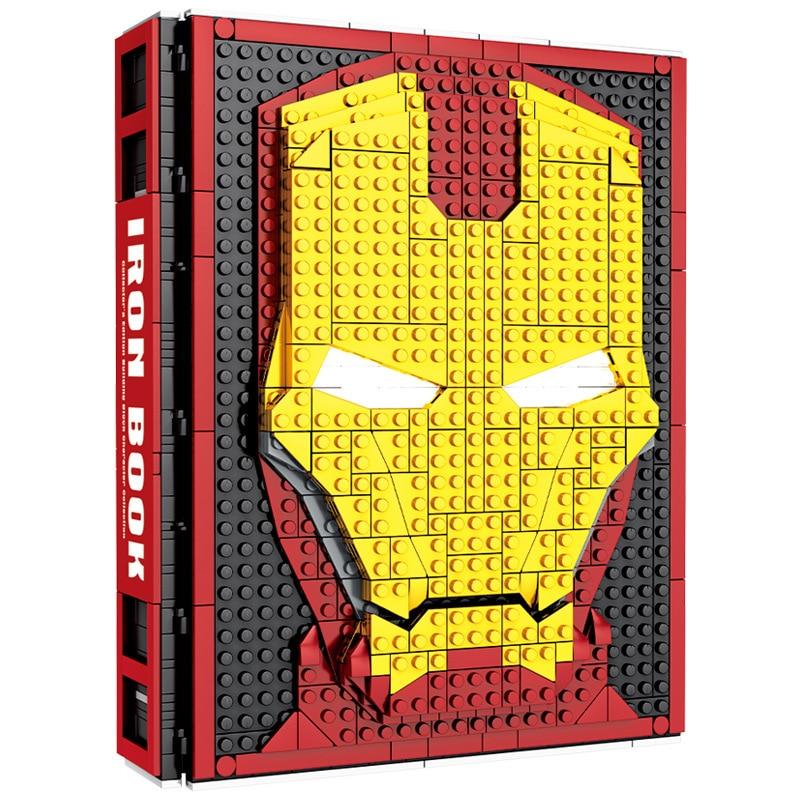 2019 New Creative Legoinglys Marvel Iron Man Building Block Iron Man Armor Underground Laboratory Creative Building Block SY1361