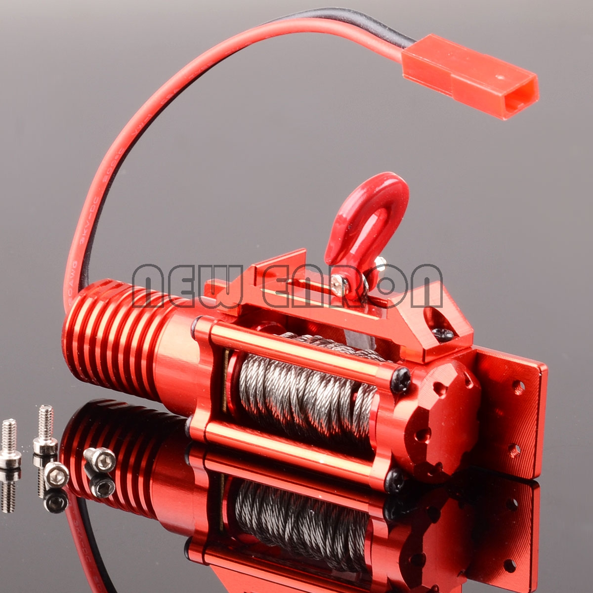 BLACK RC Alloy ELECTRIC WINCH FOR 1:10 Scale Rock Crawler Axial SCX10 Wraith D90