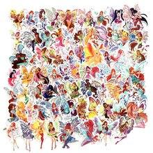 70 pçs borboleta de fadas princesa dos desenhos animados da menina adesivos para diy bagagem portátil skate decoração do carro engraçado crianças brinquedos etiqueta f3