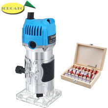 Electric Laminate Edge Trimmer Wood Router Woodworking Laminator Carpentry Trimming Cutting Carving Machine Power Tool 800W