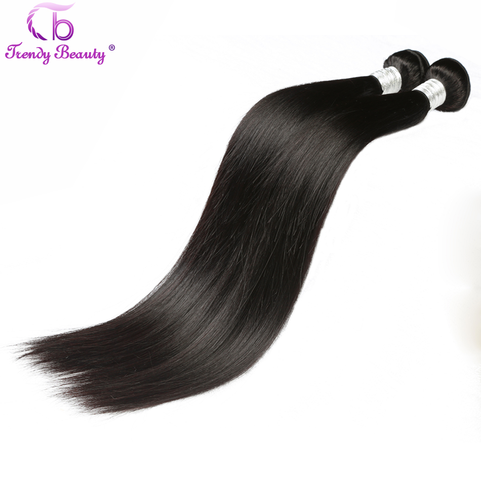 Straight  3/4 Bundles 8-30 Inches Non- Double Weft 100%  s Can Be Dyed Trendy Beauty 4