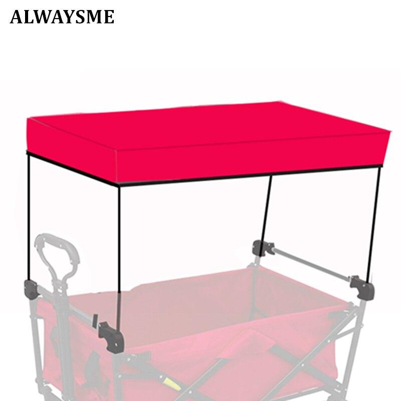 ALWAYSME Garden Utility вагон-тележка Защита от Солнца/дождя для сада вагон-тележка