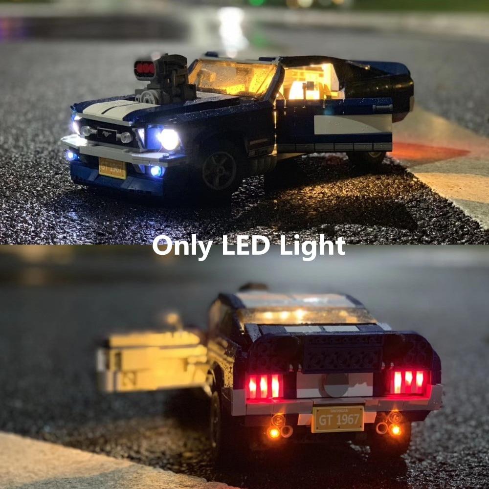 (Only Light) LED Light For CREATOR Ford Mustang GT500 1967 1960 Building Blocks Kit Bricks Classic Model Toys 10265 21047