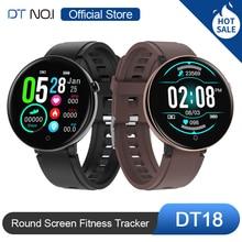 DT NO.1 DT18 Smart Watch Round Touch Screen Smartwatch Heart