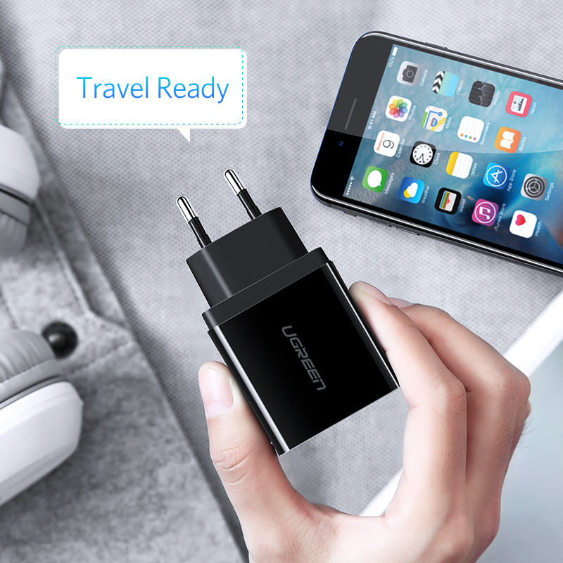 Ugreen USB Charger for iPhone Xs X 8 7 Fast Phone Charger for Samsung Xiaomi Huawei Wall Charger EU Adapter Mobile Phone Charger 5